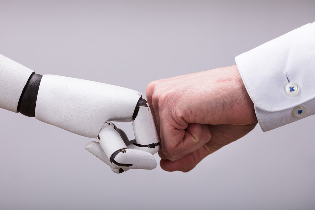 How do you blend humans with machines for successful marketing?